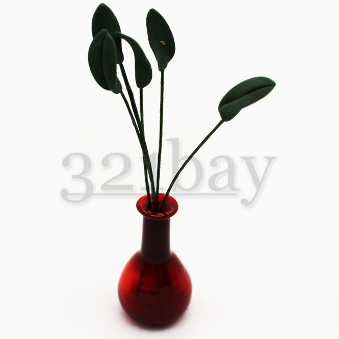 Miniature clay leaves for clay flowers