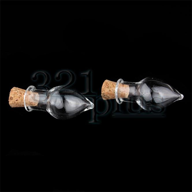 Glasfläschchen mit Korken | Puppenstubenminiaturen