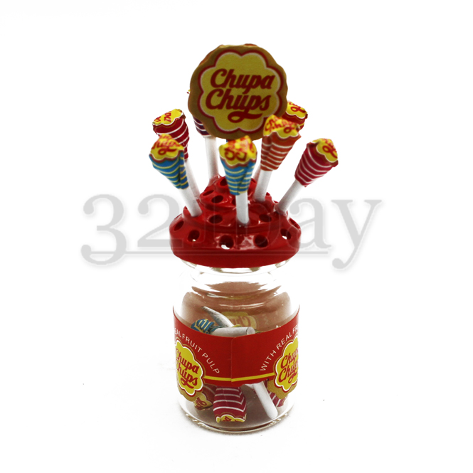 Mini Lutscher & Süßigkeiten in einem Puppenhaus Glas