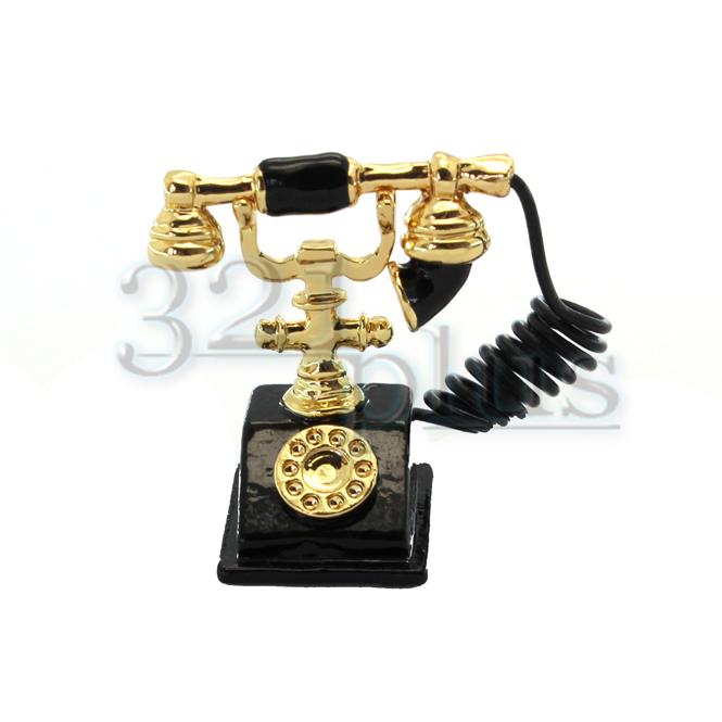 Miniature Telephone | Dollhouse Living Room Decor