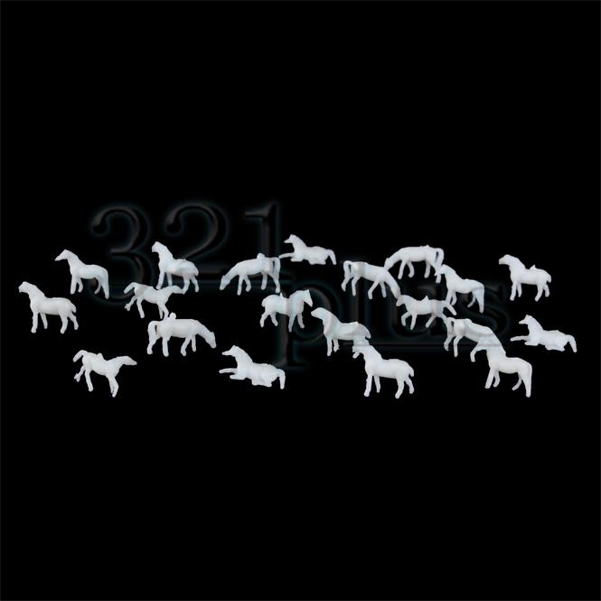1zu160 Spur N Pferde | unbemalt Weiß