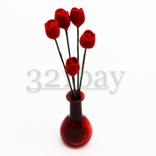 Polymer Clay Tulips for Dollhouse Garden