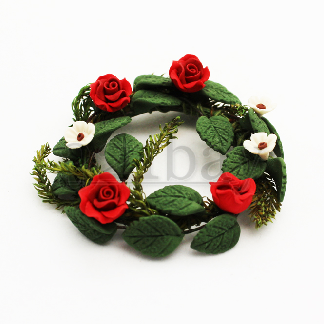Polymer Rose | Polymer Clay Wreath