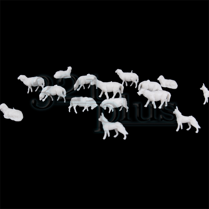 Sheeps & Dogs | N scale Farm Animals