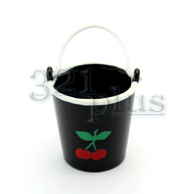 Small Galvanized Bucket | 1:12 Scale Miniature Buckets