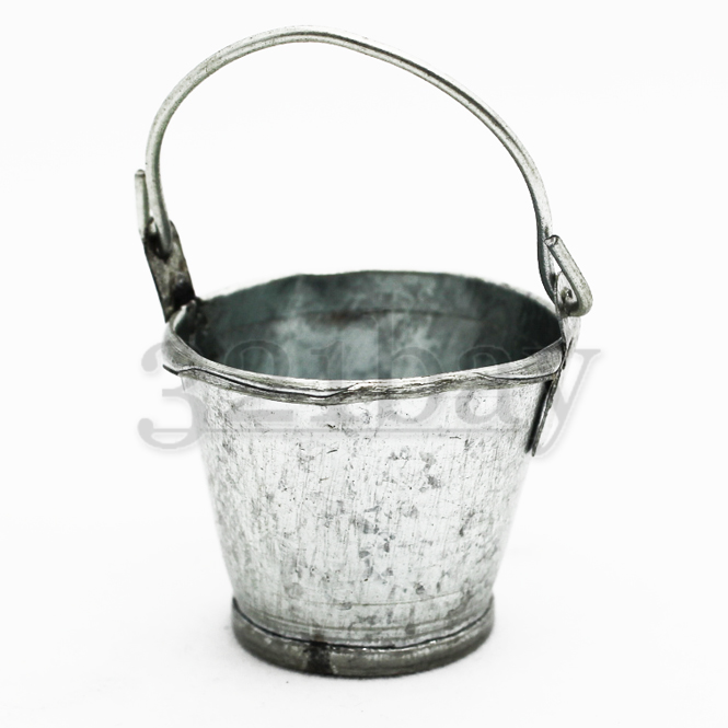 1to12 scaled small galvanized bucket 321