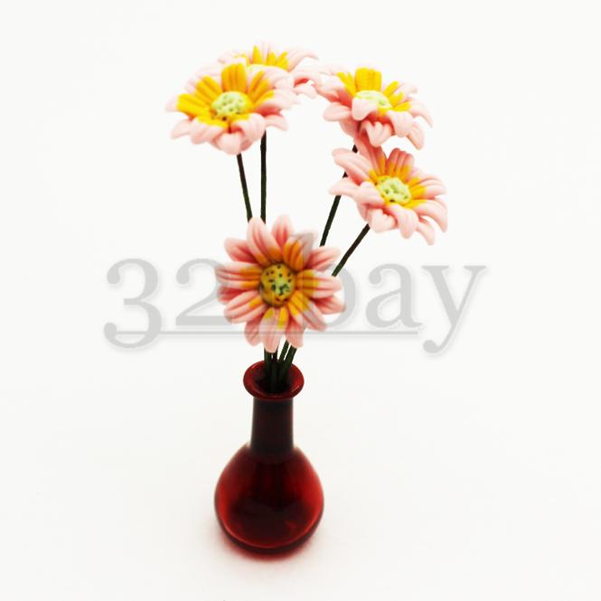 Deko Blumen | Mini Blume Gerbera Rosa