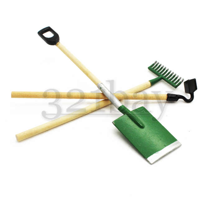 Miniature gardening tools for dollhouse garden 321 for Gardening tools with meaning